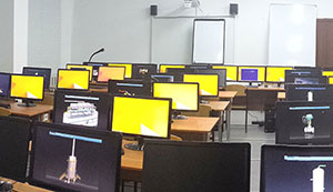 Computer lab at the Atyrau Petroleum Educational Centre